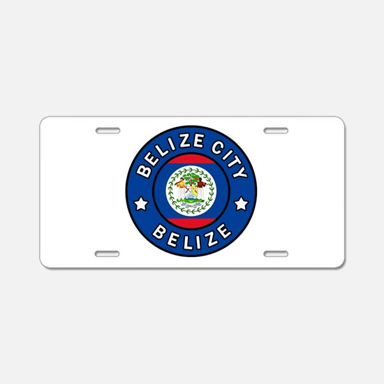 Belize City Aluminum License Plate