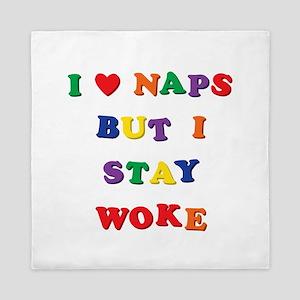 I love naps, but I stay woke! Queen Duvet