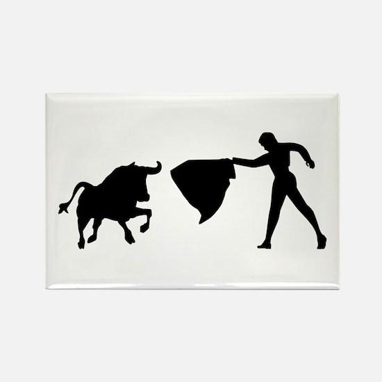 Bullfighting Rectangle Magnet