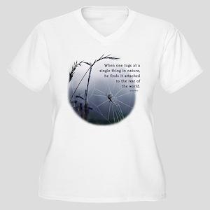 Web of Life Women's Plus Size V-Neck T-Shirt