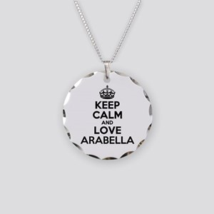 Keep Calm and Love ARABELLA Necklace Circle Charm
