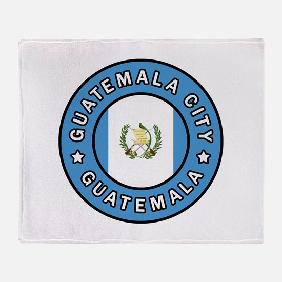 Guatemala City Throw Blanket