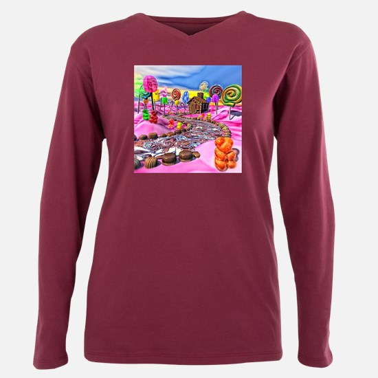 Pink Candyland Plus Size Long Sleeve Tee