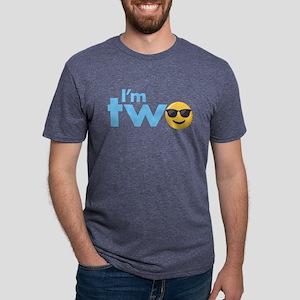 Emoji Birthday Two Mens Tri-blend T-Shirt