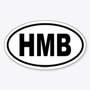 HMB Oval Sticker