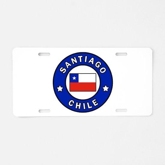 Santiago Chile Aluminum License Plate