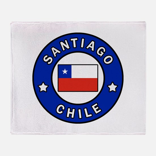 Santiago Chile Throw Blanket