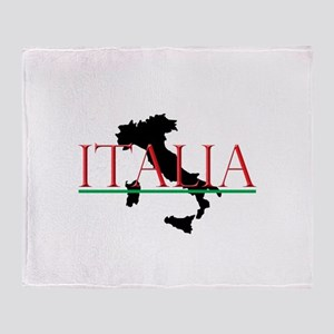 Italia: Italian Boot Throw Blanket