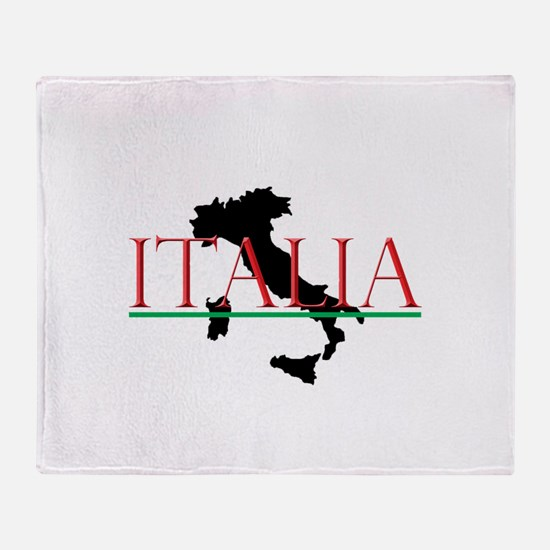 Italia: Italian Boot Throw Blanket