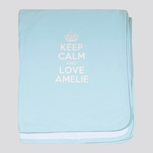 Keep Calm and Love AMELIE baby blanket