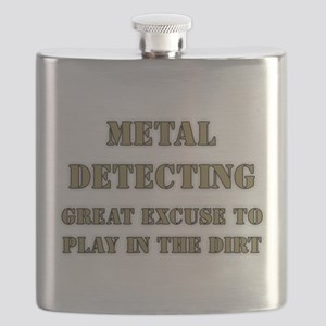 MD Excuse Stencil Flask