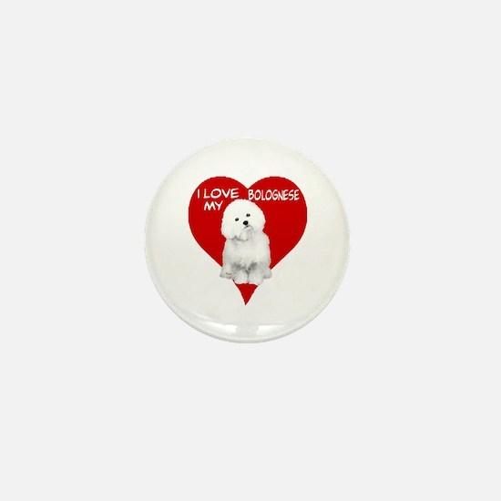 Cute Bolognese Mini Button