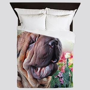 Shar Pei Painting Queen Duvet