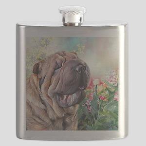 Shar Pei Painting Flask