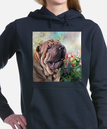 Shar Pei Painting Women's Hooded Sweatshirt
