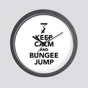 Keep calm and bungee jump Wall Clock