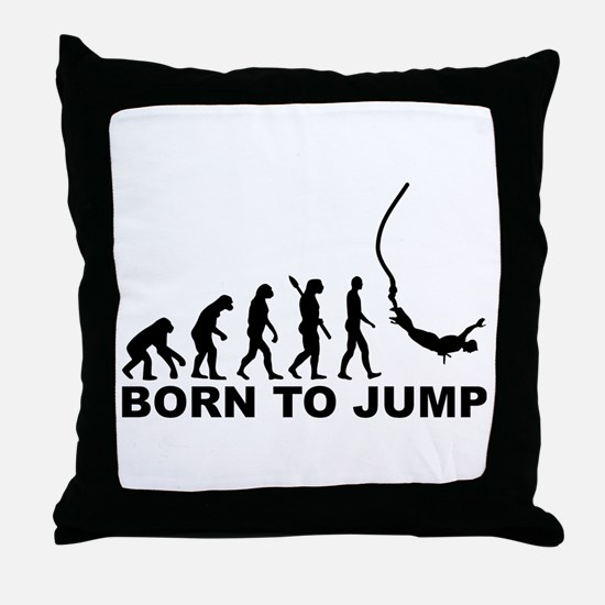 Evolution bungee jumping Throw Pillow