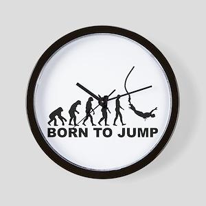 Evolution bungee jumping Wall Clock