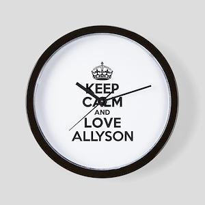 Keep Calm and Love ALLYSON Wall Clock