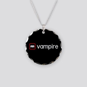 Vampire (Blood Red) Necklace Circle Charm