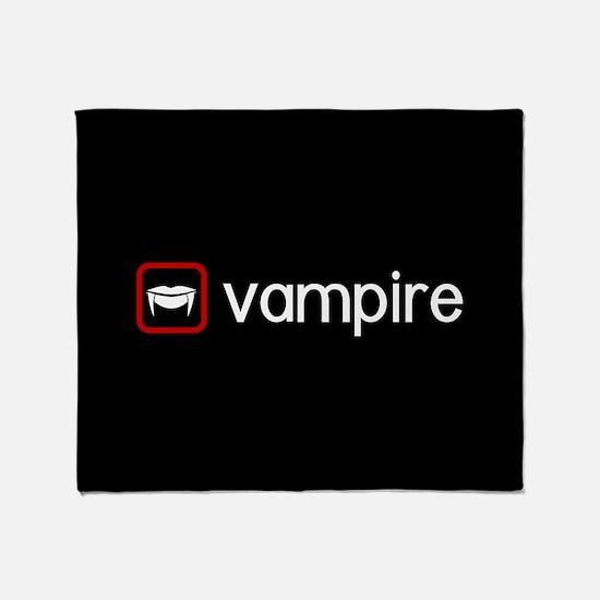 Vampire (Blood Red) Throw Blanket