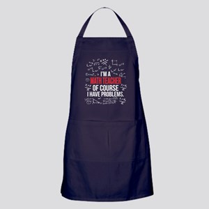 Math Teacher With Problems Apron (dark)