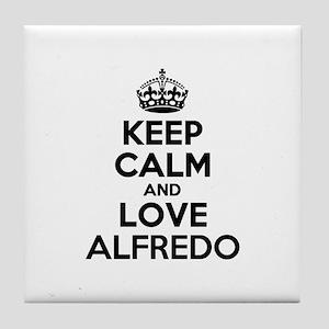 Keep Calm and Love ALFREDO Tile Coaster
