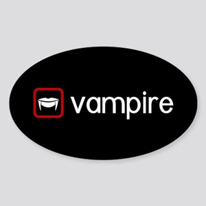 Vampire (Blood Red) Sticker (Oval)