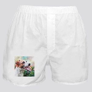 Jack Russell Terrier Painting Boxer Shorts