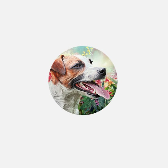 Jack Russell Terrier Painting Mini Button