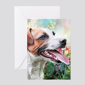 Jack Russell Terrier Painting Greeting Cards