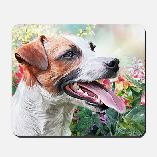 Jack Russell Terrier Painting Mousepad