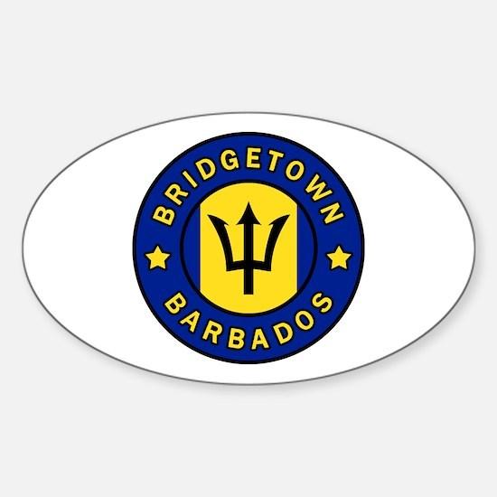 Unique Barbados Sticker (Oval)