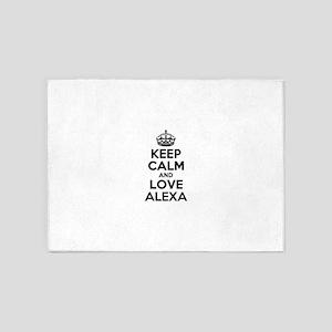 Keep Calm and Love ALEXA 5'x7'Area Rug