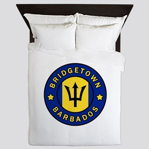 Bridgetown Barbados Queen Duvet