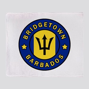 Bridgetown Barbados Throw Blanket