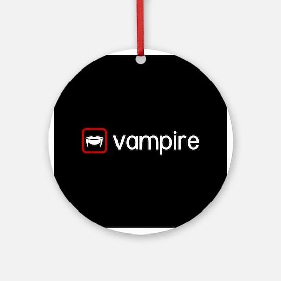 Vampire (Blood Red) Round Ornament
