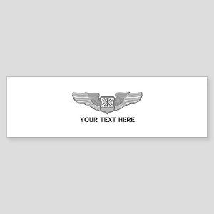 PERSONALIZED NAVIGATOR WINGS Sticker (Bumper)