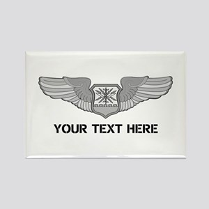 PERSONALIZED NAVIGATOR WINGS Rectangle Magnet