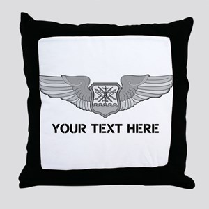 PERSONALIZED NAVIGATOR WINGS Throw Pillow
