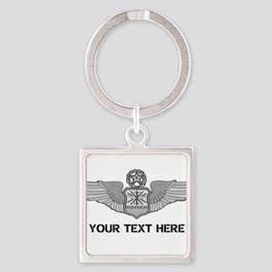 PERSONALIZED MASTER NAVIGATOR WING Square Keychain