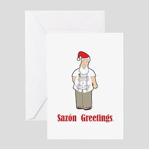 Cuban Santa Greeting Card