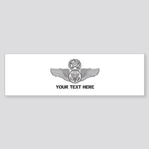 PERSONALIZED MASTER ENLISTED AIRC Sticker (Bumper)