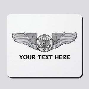 PERSONALIZED ENLISTED AIRCREW WINGS Mousepad