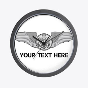 PERSONALIZED ENLISTED AIRCREW WINGS Wall Clock