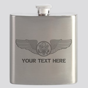 PERSONALIZED ENLISTED AIRCREW WINGS Flask