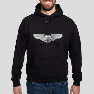 PERSONALIZED ENLISTED AIRCREW WINGS Hoodie (dark)