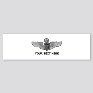 PERSONALIZED COMMAND PILOT WINGS Sticker (Bumper)