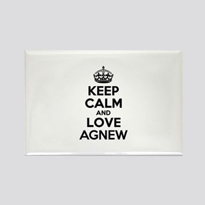 Keep Calm and Love AGNEW Magnets