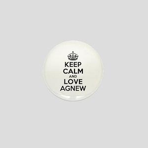 Keep Calm and Love AGNEW Mini Button